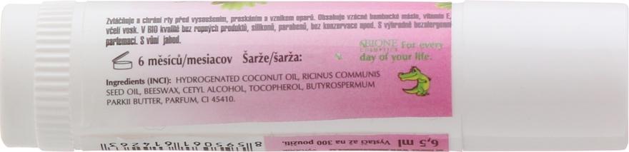 Balsam do ust w sztyfcie z witaminą E Truskawka - Bione Cosmetics Vitamin E — фото N2