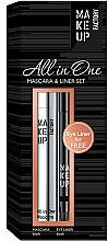Kup Zestaw - Make up Factory All in One Mascara & Liner Set (mascara/9ml + liner/0.31g)