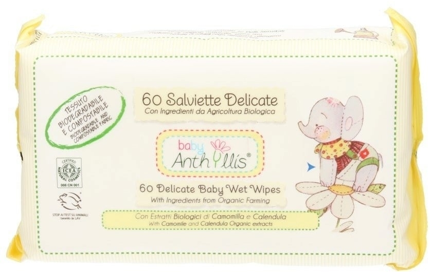 Chusteczki nawilżane dla dzieci, 60 szt. - Anthyllis Cleansing Wipes