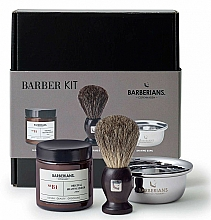 Kup Zestaw do golenia - Barberians. Barber Kit (shv/brush 1pcs + shv/bowl 1pcs + ash/cr/ 100 ml)