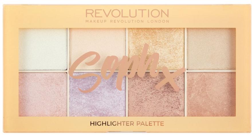 Paletka rozświetlaczy do twarzy - Makeup Revolution Soph X Highlighter Palette