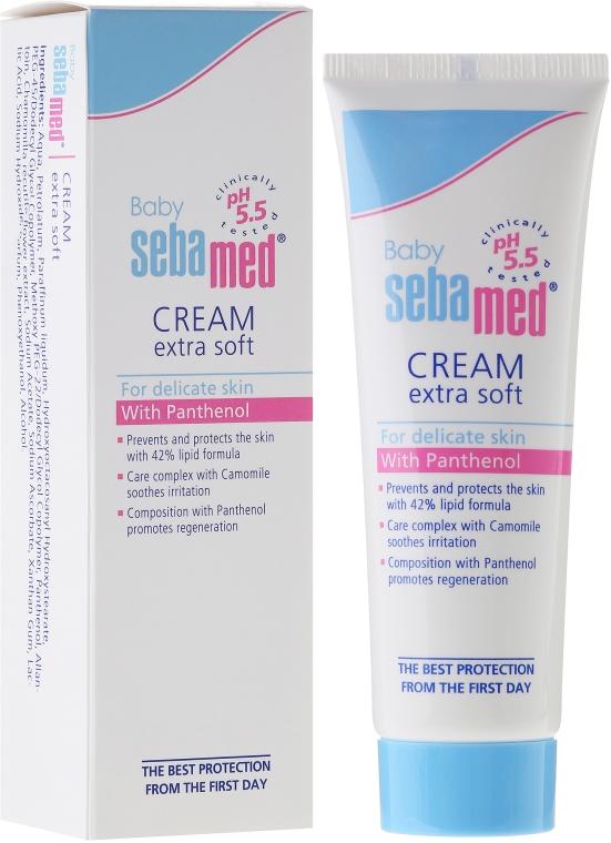 Łagodny krem ochronny do ciała dla dzieci - Sebamed Baby Extra Soft Baby Cream — фото N1