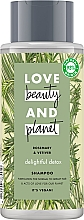 Kup Oczyszczający szampon do włosów normalnych i przetłuszczających się Rozmaryn i wetyweria - Love Beauty&Planet Delightful Detox Rosemary & Vetiver Vegan Shampoo