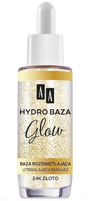 Rozświetlająca baza utrwalająca makijaż - AA Make Up Hydro Baza Glow 24k złoto