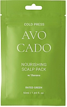 Kup Odżywcza maska ​​do skóry głowy z olejkiem z awokado i ekstraktem z banana - Rated Green Cold Press Avocado Nourishing Scalp Pack
