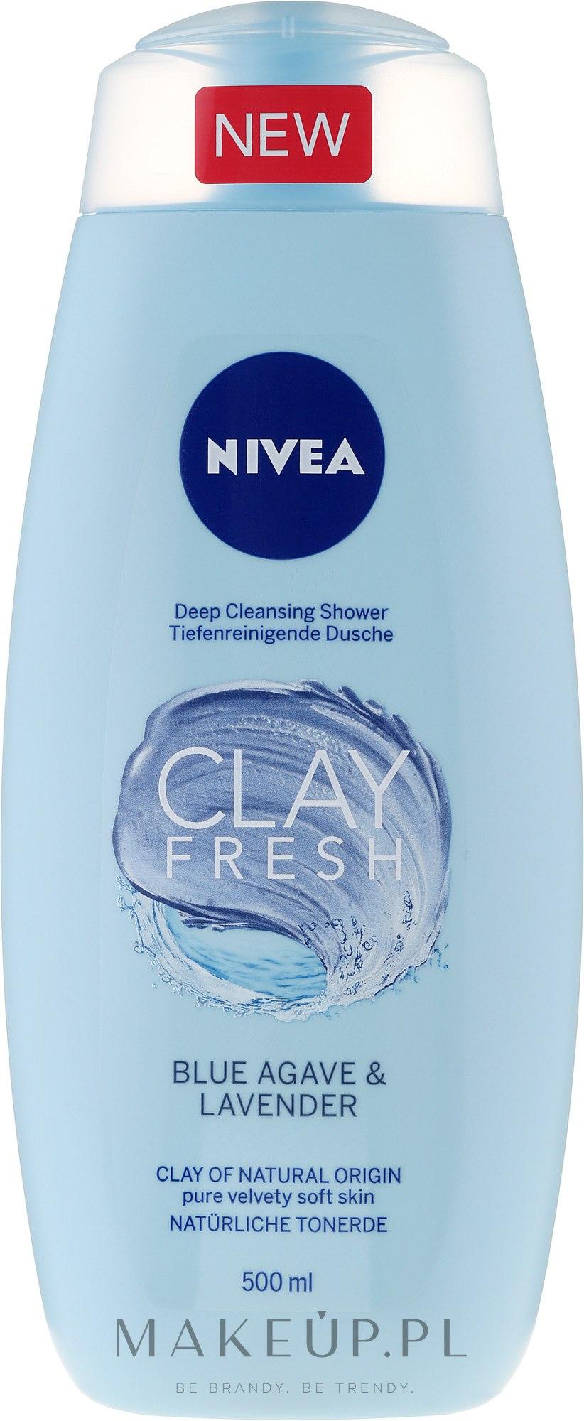 Żel pod prysznic z glinką Niebieska agawa i lawenda - Nivea Clay Fresh Blue Agave & Lavender — фото 500 ml