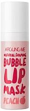 Kup Bąbelkowa maseczka do ust - Welcos Natural Foaming Bubble Lip Mask Peach