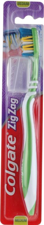 Szczoteczka do zębów ZigZag (średnia twardość, zielona) - Colgate Zig Zag Plus Medium Toothbrush