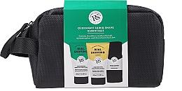 Kup Zestaw - The Real Shaving Co. Overnight Skin Shave Essentials Gift Set (shave/gel 100 ml + face/wash/scrub 100 ml + bag + acc)
