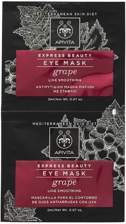 Maska przeciwzmarszczkowa pod oczy z winogronami - Apivita Express Beauty Eye Mask Grape — фото N1