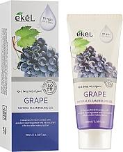 Kup Naturalny peelingujący żel do mycia twarzy Winogrono - Ekel Grape Natural Clean Peeling Gel