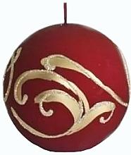 Kup Świeca dekoracyjna, kula, czerwona 10 cm - Artman Bombka