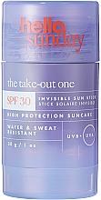 Kup Przeciwsłoneczny sztyft do twarzy i ciała - Hello Sunday The Take-Out One Invisible Sun Stick SPF 30