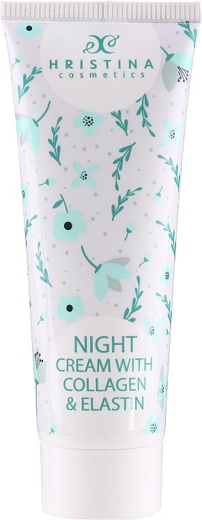 Krem do twarzy na noc z kolagenem i elastyną - Hristina Cosmetics Night Cream With Collagen & Elastin — фото N1