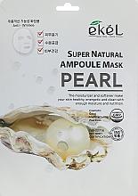 Kup Maska na tkaninie do twarzy z ekstraktem z pereł - Ekel Super Natural Ampoule Mask Pearl
