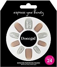 Kup Zestaw sztucznych paznokci z klejem, 3063 - Donegal Express Your Beauty