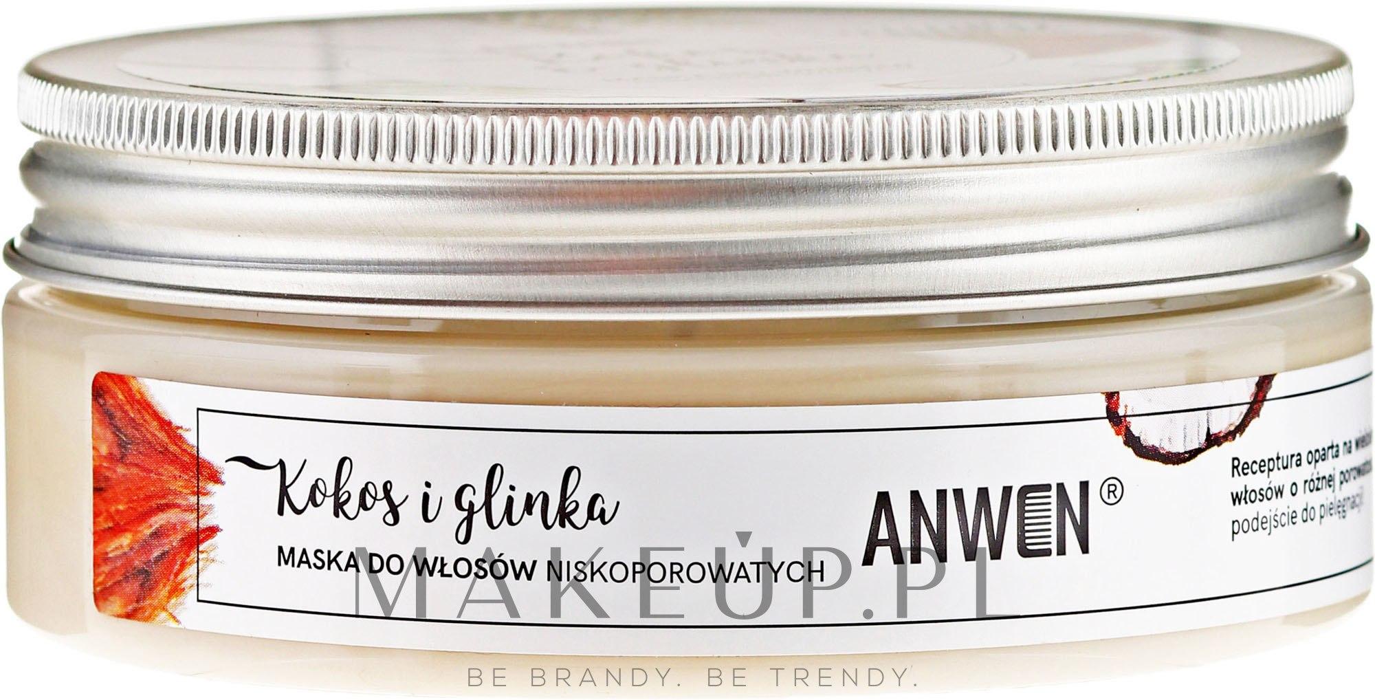 Maska do włosów niskoporowatych Kokos i glinka - Anwen — фото 200 ml