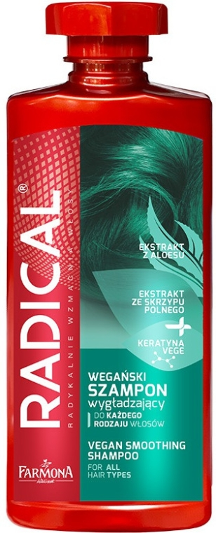Wegański szampon wygładzający do każdego rodzaju włosów - Farmona Radical Vegan — фото N1