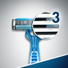 Jednorazowe maszynki do golenia, 6+2 szt. - Gillette Blue 3 — фото N7