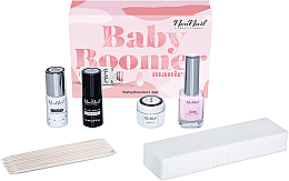 Kup Zestaw - NeoNail Professional Baby Boomer Set (top 7,2 ml + base 7,2 ml + gel 5 ml + gum 12 ml + sponge 25 pc + sticks 10 pc)