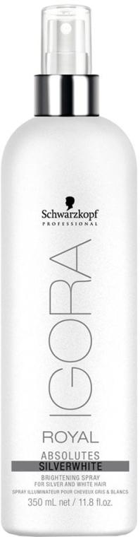 Rozświetlający spray do włosów siwych i białych - Schwarzkopf Professional Igora Royal Absolutes Silverwhite Brightening Spray — фото N1
