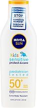 Kup Przeciwsłoneczne mleczko dla dzieci - Nivea Sun Kids Pure & Sensitive Sun Lotion SPF50+