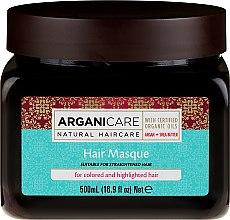 Kup Maska do włosów farbowanych i rozjaśnianych z masłem shea - Arganicare Shea Butter Argan Oil Hair Masque