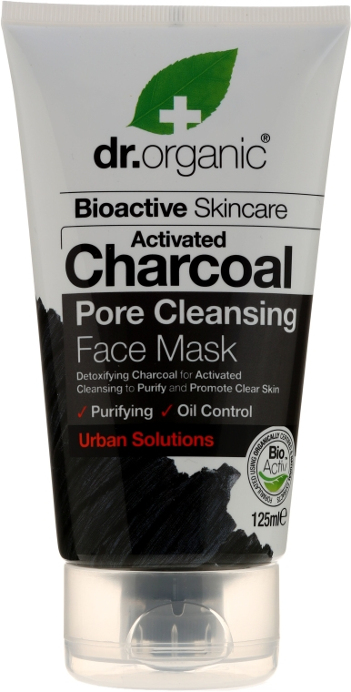 Maska do twarzy z węglem aktywnym - Dr. Organic Bioactive Skincare Activated Charcoal Pore Cleansing Face Mask — фото N1