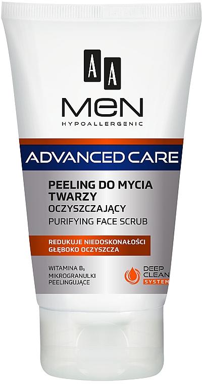 Oczyszczający peeling do mycia twarzy dla mężczyzn - AA Men Advanced Care — фото N1