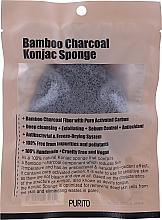 Kup Gąbka konjac z węglem drzewnym - Purito Bamboo Charcoal Konjac Sponge