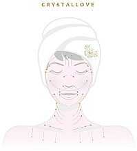 Zestaw roller do twarzy + płytka Gua Sha + buteleczka roll-on z kwarcu - Crystallove Quartz Beauty Set Clear — фото N3
