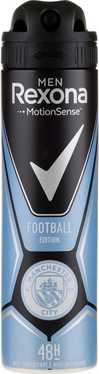 Antyperspirant w sprayu dla mężczyzn - Rexona Men MotionSense Football Edition Manchester City Spray