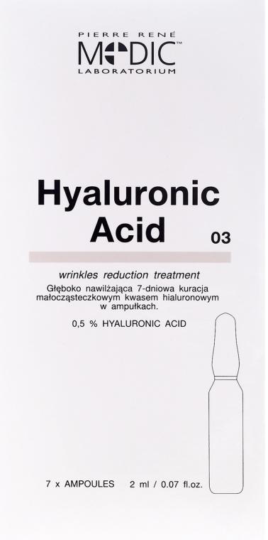 Ampułki z kwasem hialuronowym do twarzy - Pierre René Medic Laboratorium Hyaluronic Acid Wrinkles Reduction Treatment