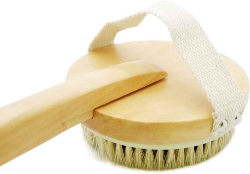 Szczotka do masażu ciała pod prysznicem 1901, z drewnianą rączką - Top Choice Wooden Brush Massager — фото N2