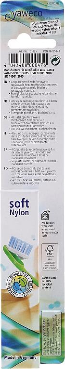 Wymienne miękkie główki do szczoteczki do zębów - Yaweco Toothbrush Heads Nylon Soft — фото N3