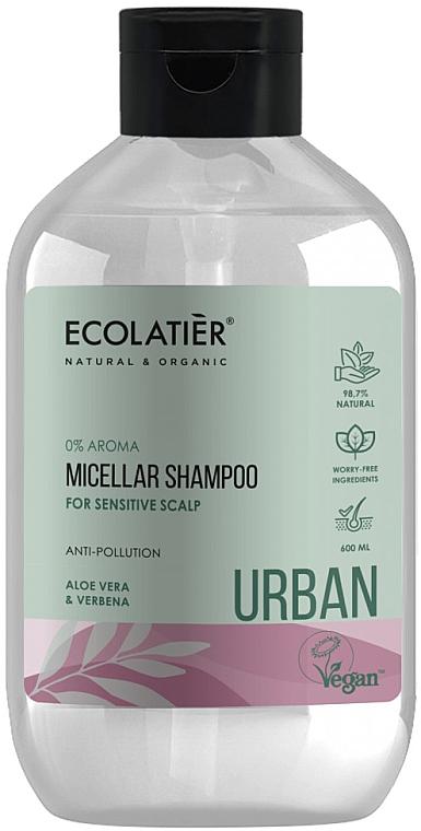 Szampon micelarny do wrażliwej skóry głowy Aloes i werbena - Ecolatier Urban Micellar Shampoo