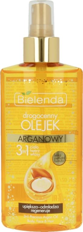 Drogocenny olejek arganowy do ciała, twarzy i włosów 3 w 1 - Bielenda Precious Argan Oil 3in1