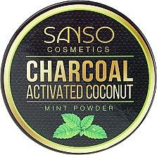 Kup Miętowy wybielający proszek z węglem kokosowym do zębów - Sanso Cosmetics Charcoal Activated Coconut Mint Powder