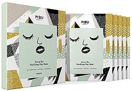 Kup Zestaw maseczek do twarzy - Pibu Beauty Green Tea Purifying Clay Mask Set (f/mask/5x18g)