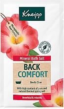 Kup Relaksująca sól do kąpieli - Kneipp Mineral Bath Salt Back Comfort Devils Claw