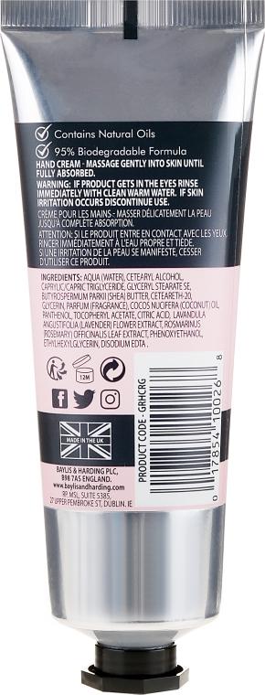 Naturalny krem do rąk - Baylis & Harding Goodness Rose & Geranium Natural Hand Cream — фото N2