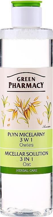 Płyn micelarny 3 w 1 Owies - Green Pharmacy Micellar Solution 3 in 1 Oat
