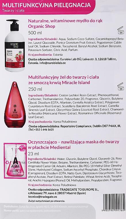 Zestaw - Organic Shop (soap/500ml + f/b/gel/250ml + f/mask/23ml) — фото N2