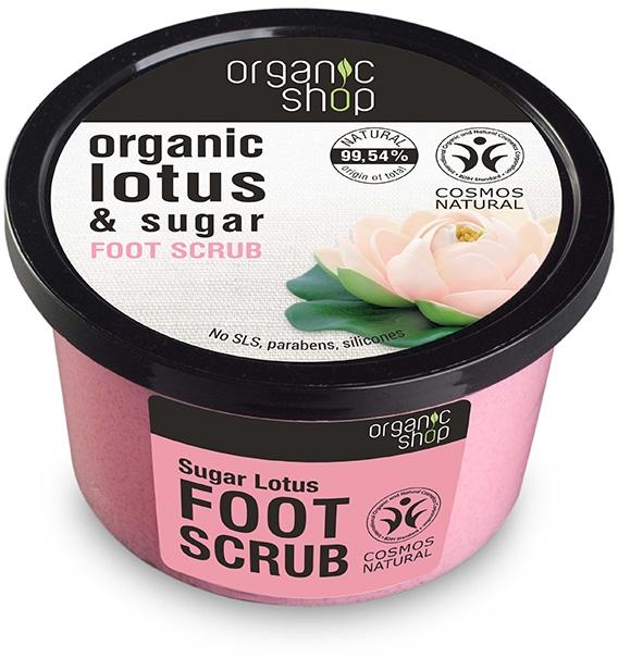 Scrub do stóp Cukrowy lotos - Organic Shop Foot Scrub Organic Lotus & Sugar