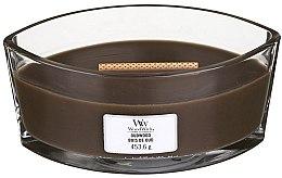 Świeca zapachowa w szkle - Woodwick Hearthwick Flame Ellipse Candle Oudwood — фото N1