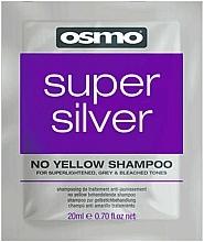 Kup Szampon koloryzujący do włosów jasnych, siwych i rozjaśnianych - Osmo Super Silver No Yellow Szampon (próbka)