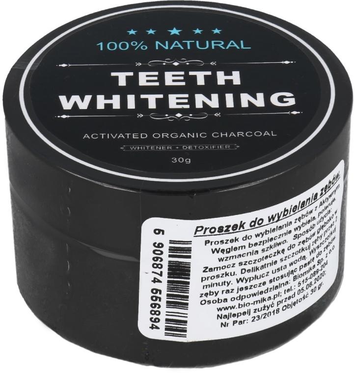 Wybielający proszek do zębów z węglem aktywnym - Biomika Natural Teeth Whitening