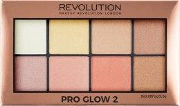 Paletka rozświetlaczy do twarzy - Makeup Revolution Pro Glow 2 — фото N3