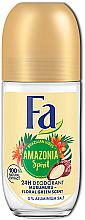 Kup Dezodorant w kulce bez soli glinu - Fa Amazonia Spirit Deo Roll On