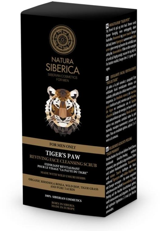 Rewitalizujący peeling do twarzy dla mężczyzn Łapa tygrysa - Natura Siberica For Men Tiger's Paw Reviving Face Cleansing Scrub — фото N2